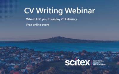 CV Writing Webinar – 25 February